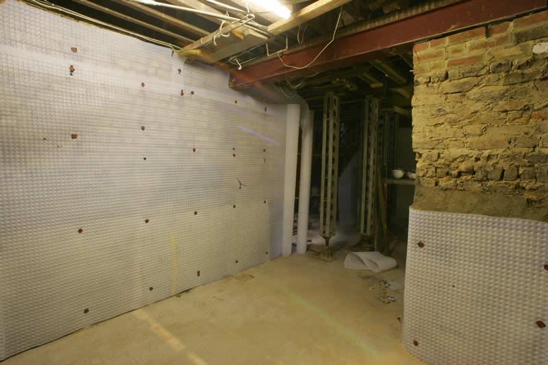 basement waterproofing membranes to stop water leaking damp proofing